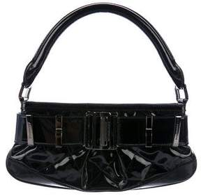 Burberry Patent Buckle Bag - BLACK - STYLE