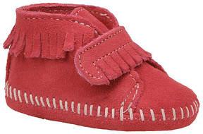 Minnetonka Girls' Velcro Front Strap Bootie (Infant-Toddler)
