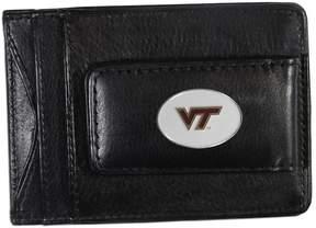 NCAA Virginia Tech Hokies Black Leather Cash & Card Holder
