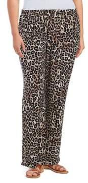 Context Plus Leopard-Print Neutral Pants