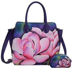 Anuschka Hand Painted Leather Women's Medium Expandable Convertible Tote