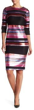 ECI Foil Stripe Scuba Dress