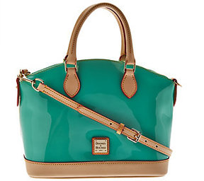 Dooney & Bourke As Is Patent Leather Domed Satchel - ONE COLOR - STYLE