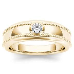 Imperial Star 1/5ct TW Diamond 14K Yellow Gold Solitaire Men's Ring