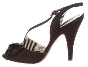 Moschino Satin Slingback Sandals