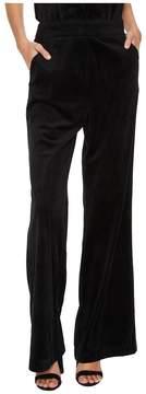 Bishop + Young Velvet Wide Leg Pants Women's Casual Pants