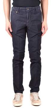 Incotex Men's Blue Cotton Pants.