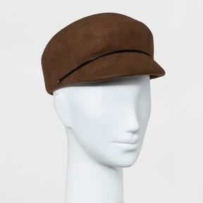Mossimo Women's Felt Lieutenant Hat Brown