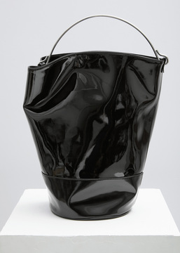 MM6 Maison Margiela black black patent bucket bag