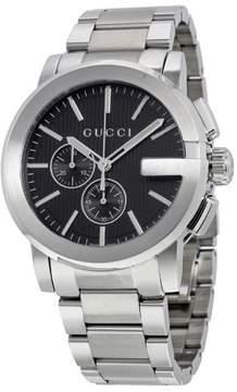 Gucci G-Chrono Black Dial Stainless Steel Men's Watch YA101204