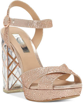INC International Concepts I.n.c. Women's Rosarria Light-Up Block-Heel Sandals, Created for Macy's Women's Shoes