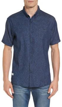 7 Diamonds Men's Marquee Moon Print Woven Shirt