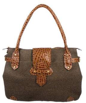 Eric Javits Embossed Leather-Trimmed Squishee Tote