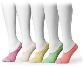Muk Luks Microfiber Foot Liners - Pack of 5