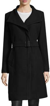 Cole Haan Women's Wool Zip Front Coat