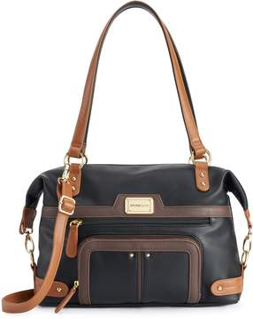 Co Stone & Nappa Leather Satchel