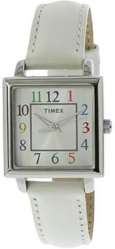 Timex Women's Dress T2P377 Silver Leather Analog Quartz Fashion Watch