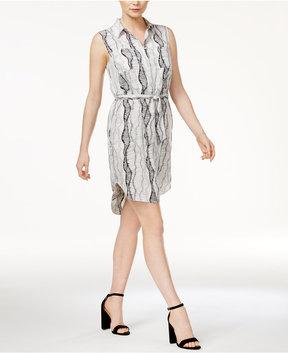 Bar III Printed Sash Shirtdress, Created for Macy's