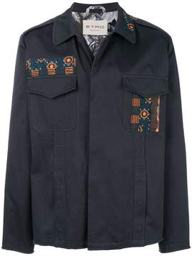 Etro jacquard patch jacket