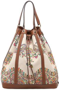 Oversized Paisley Canvas Bucket Bag