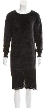 Timo Weiland Fringe-Trimmed Textured Dress