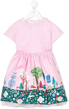 Simonetta forest print dress