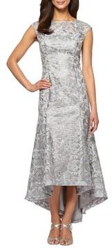 Alex Evenings Women's High/low Lace Dress