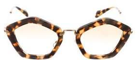 Miu Miu Noir Gradient Sunglasses