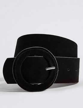 Marks and Spencer Velvet Round Buckle Belt