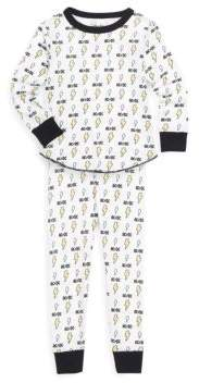 Rowdy Sprout Toddler's, Little Boy's & Boy's AC/DC Cotton Thermal Pajamas
