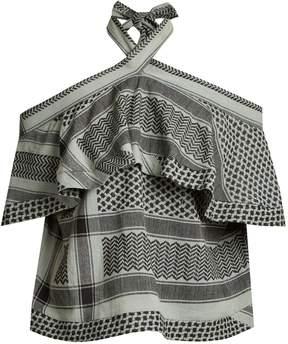 DAY Birger et Mikkelsen CECILIE COPENHAGEN Topanga scarf-jacquard cotton top