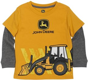John Deere Toddler Boy Front Loader Mock-Layer Tee