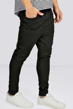 boohoo Drop Crotch Skinny Black Jeans