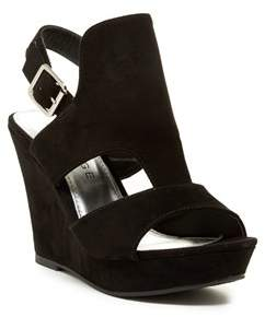 Rampage Womens Ram-camillas Fabric Open Toe Casual Platform Sandals.