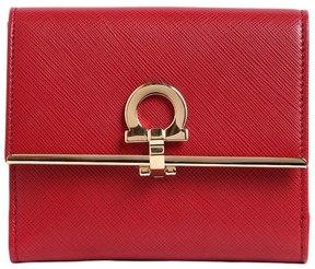 Salvatore Ferragamo Gancini Leather French Wallet