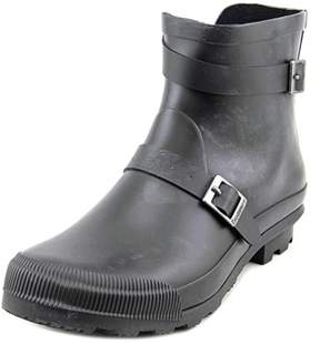 BearPaw June Women Round Toe Synthetic Black Rain Boot.