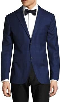 Jack Spade Men's Warren Fit Cobalt Windowpane Sportcoat