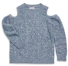 Design History Girl's Cable Knitted Sweater
