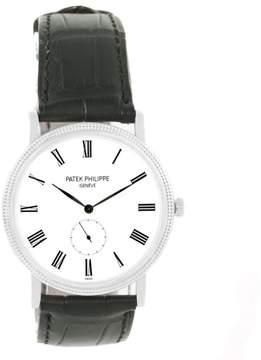 Patek Philippe Calatrava 5119G 18K White Gold & Leather Manual 36mm Mens Watch
