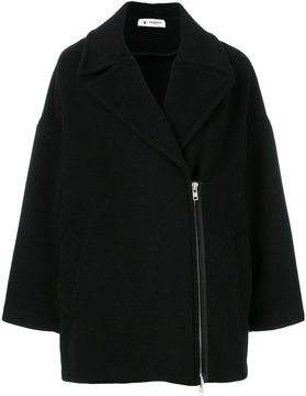 Barena oversized side zipped coat