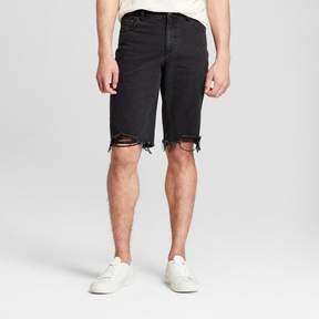 Jackson Men's 12 Raw Edge Destructed Denim Shorts Black
