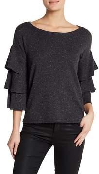 Design History Tiered Ruffle Sleeve Sweater