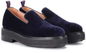 Eytys Palacio velvet platform loafers