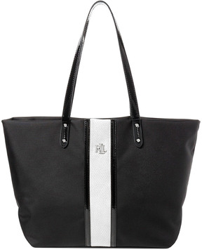 Lauren Ralph Lauren Bainbridge Striped Nylon Tote