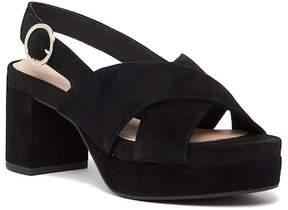 Taryn Rose Wanda Suede Platform Slingback Sandal