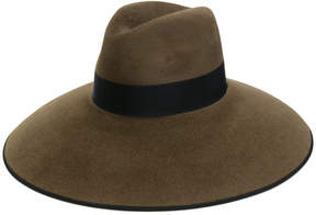 Gucci rabbit felt wide brimmed hat