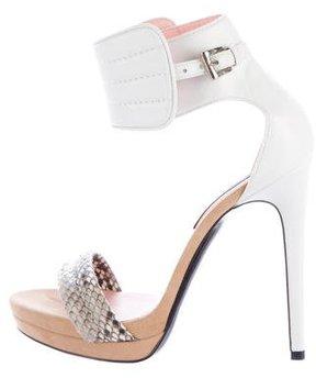 Barbara Bui Leather Multistrap Sandals