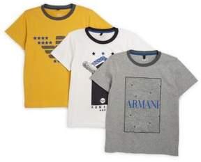Armani Junior Little and Big Boy's Multi T-Shirt Set