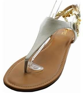 Thalia Sodi Lara Women Open Toe Synthetic White Thong Sandal.