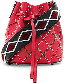 les petits joueurs Mini Daliah Bag in Red.